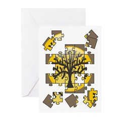 Tree Jigsaw Greeting Cards (Pk of 10)