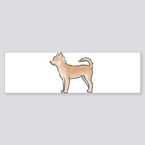 Chiuahua longhaired Bumper Sticker