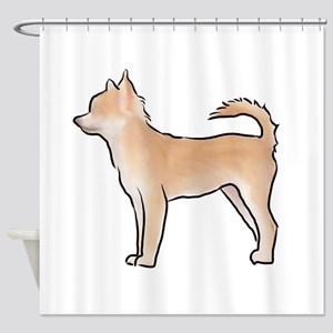Chiuahua longhaired Shower Curtain