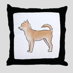 Chiuahua longhaired Throw Pillow