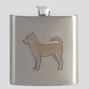 Chiuahua longhaired Flask