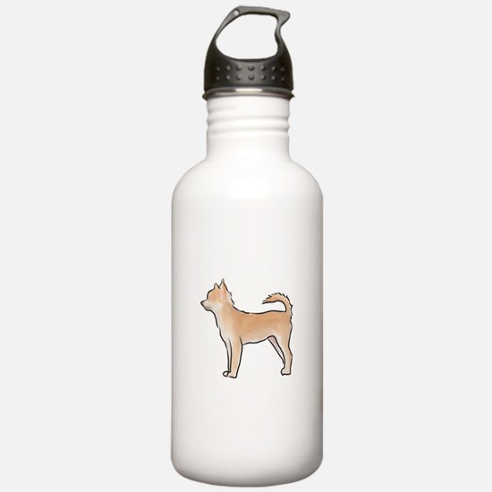 Chiuahua longhaired Water Bottle
