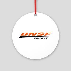 BNSF Railway Round Ornament