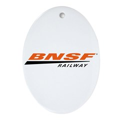 BNSF Railway Oval Ornament