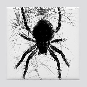 Scary Spider Tile Coaster