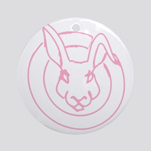 Bunny Rabbit with attitude logo Round Ornament