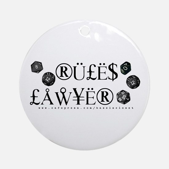 Rules Lawyer Ornament (Round)