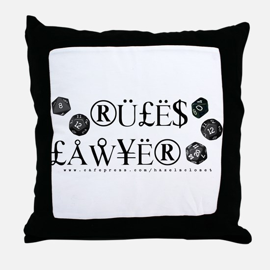 Rules Lawyer Throw Pillow