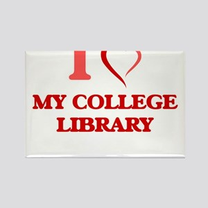 I love My College Library Magnets