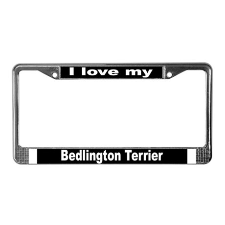 """Bedlington Terrier"" License Plate Frame"