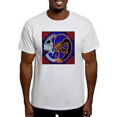 Celtic Bird & Cat Ash Grey T-Shirt
