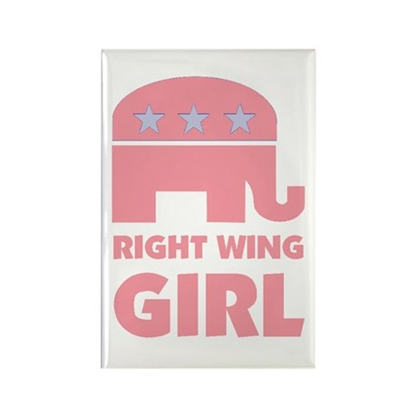 Right Wing Girl Rectangle Magnet