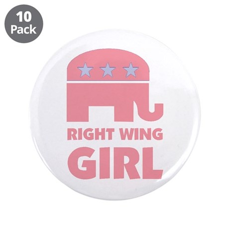"""Right Wing Girl 3.5"""" Button (10 pack)"""