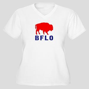 BFLO Women's Plus Size V-Neck T-Shirt