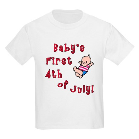 Baby's First 4th of July Kids Light T-Shirt