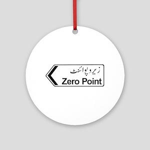 Zero Point, Islamabad, Pakistan Ornament (Round)