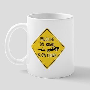 Wildlife On Road, Wyoming, US Mug