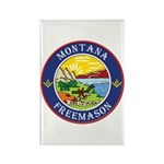 Montana Masons Rectangle Magnet (10 pack)