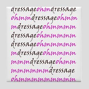 dressage ohm Tile Coaster