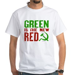 Green is the New Red White T-Shirt