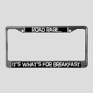 Road rage License Plate Frame