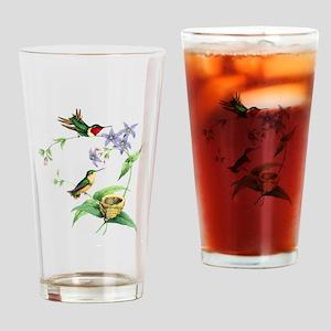 Hummingbirds Drinking Glass