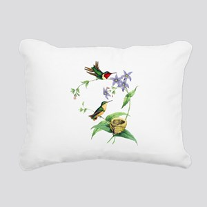 Hummingbirds Rectangular Canvas Pillow