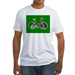 Bicycle / Cycling / Bike Fitted T-Shirt (green)