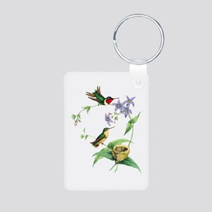 Hummingbirds Aluminum Photo Keychain