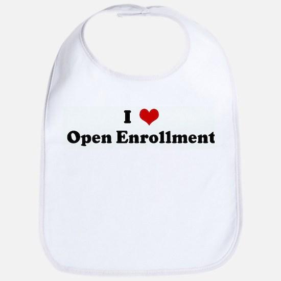 I Love Open Enrollment Bib