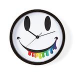 Smiley Juicy Rainbow Wall Clock