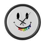 Smiley Juicy Rainbow Large Wall Clock