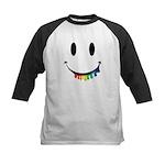 Smiley Juicy Rainbow Kids Baseball Jersey