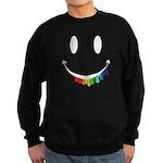 Smiley Juicy Rainbow Sweatshirt (dark)