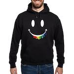 Smiley Juicy Rainbow Hoodie (dark)