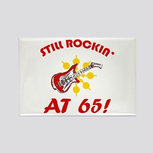 Rockin' 65th Birthday Rectangle Magnet