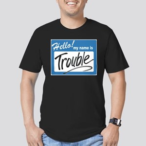 hello trouble Men's Fitted T-Shirt (dark)