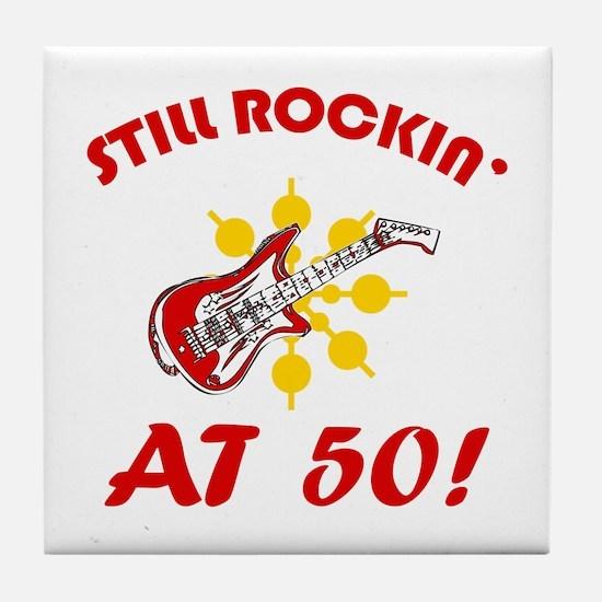 Rockin' 50th Birthday Tile Coaster