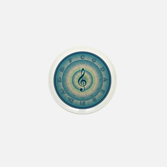 Colorful Circle of Fifths Mini Button