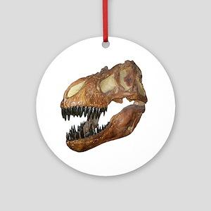 T-rex Skull Ornament (Round)