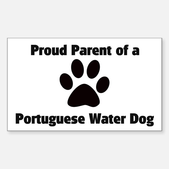 Portuguese Water Dog Rectangle Decal