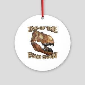 T-rex / Food Chain Ornament (Round)