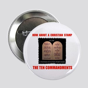 "CHRISTIANS NEED A STAMP TOO 2.25"" Button (10"