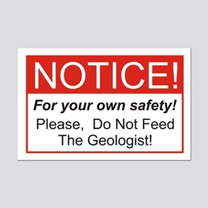 Notice / Geologist Mini Poster Print
