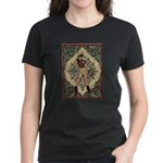 Ornate Vintage Pinup Cowgirl Women's Dark T-Shirt