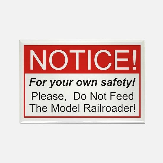 Notice / Model Railroader Rectangle Magnet