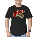 Vintage Rodeo Bronc Rider Men's Fitted T-Shirt (da