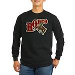 Vintage Rodeo Bronc Rider Long Sleeve Dark T-Shirt