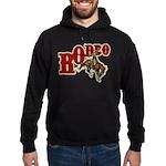 Vintage Rodeo Bronc Rider Hoodie (dark)