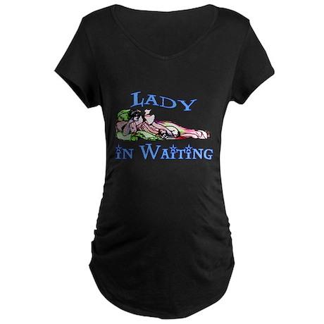 Lady in Waiting Maternity Dark T-Shirt